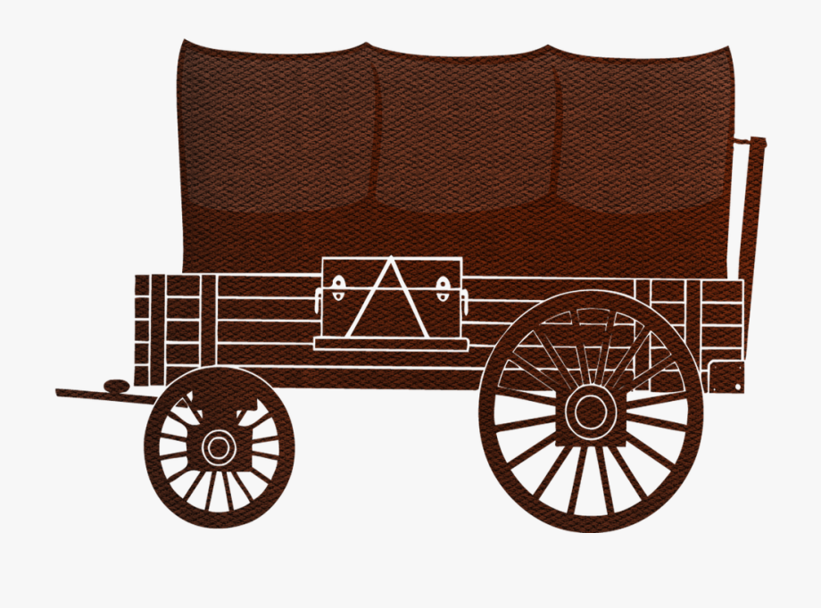 Covered wild western pioneer. Wagon clipart old west