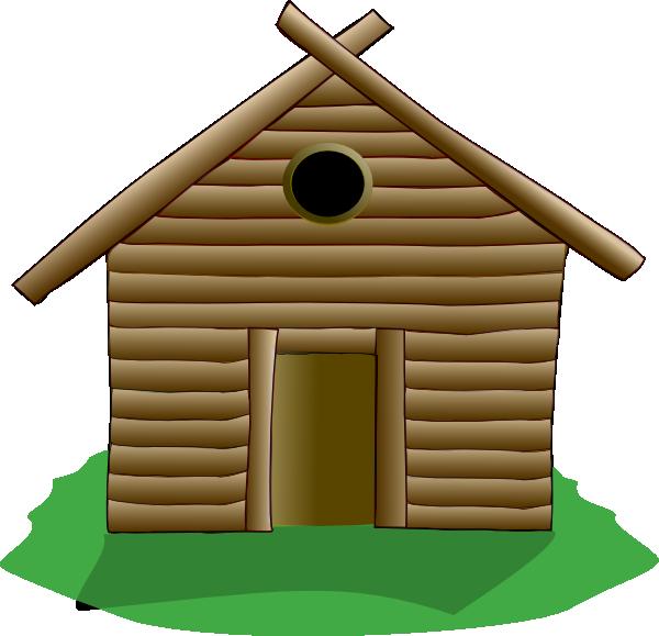 Pioneer clipart wood house. Log cabin clip art