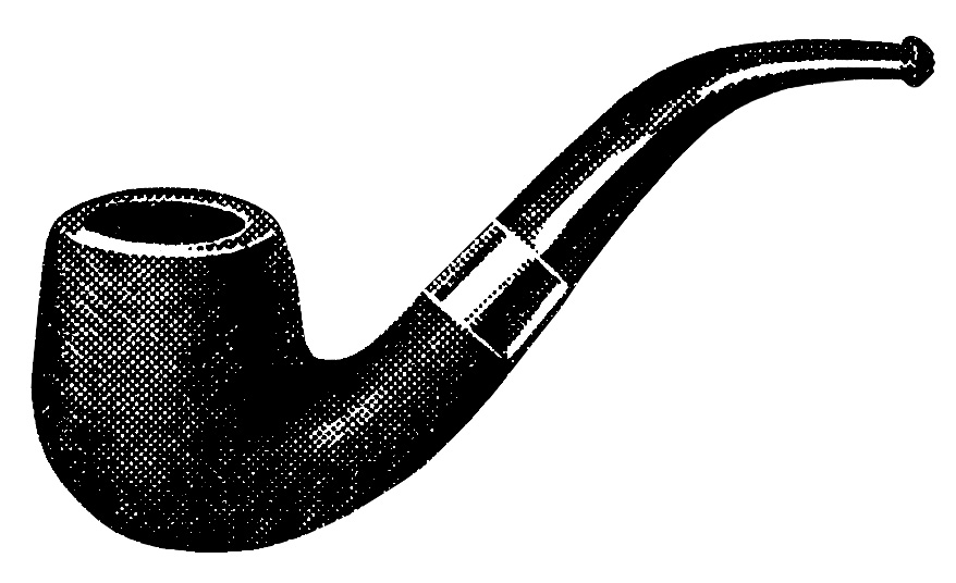 Vintage smoking clip art. Pipe clipart