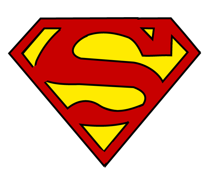 Logo drawn pencil and. Pipe clipart superman
