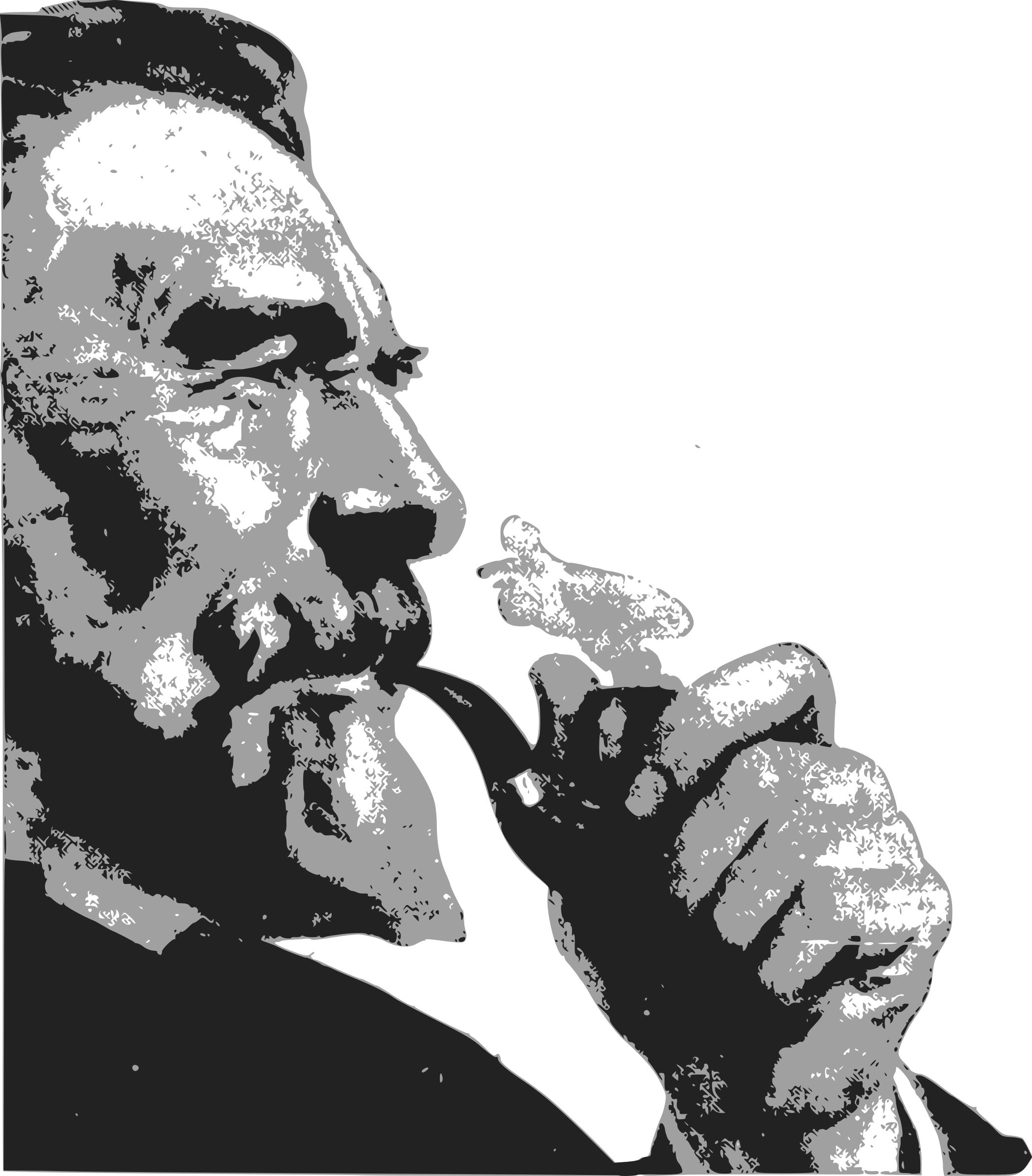 Man with a big. Pipe clipart tobacco pipe