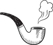 Pipe clipart tobacco pipe. Sketch panda free images