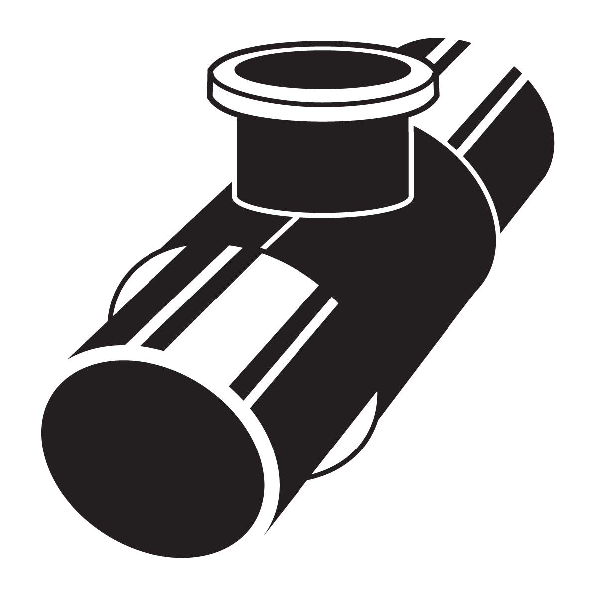 Service work insertions icon. Pipe clipart valve