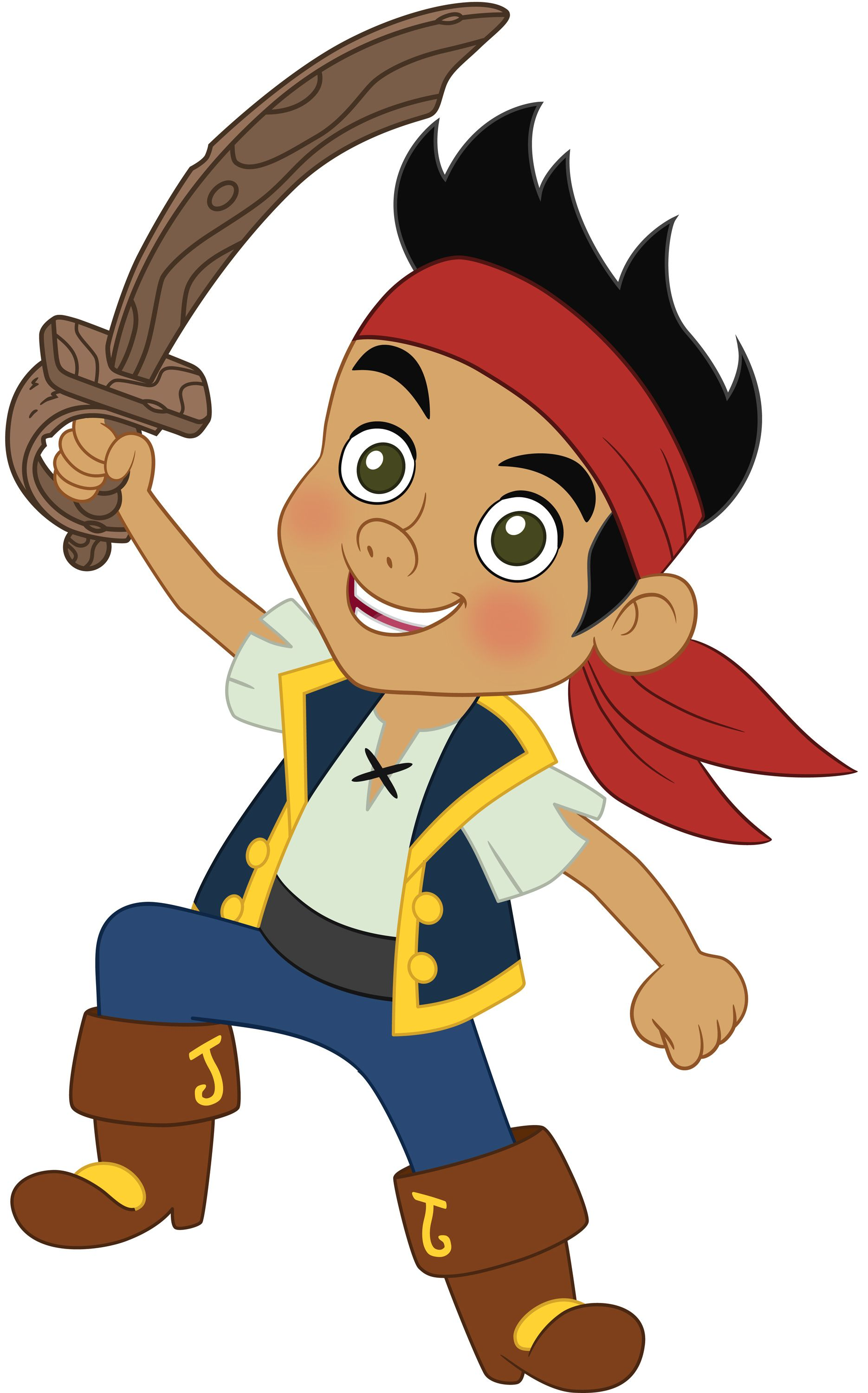 Pirate clipart. Jake and the never