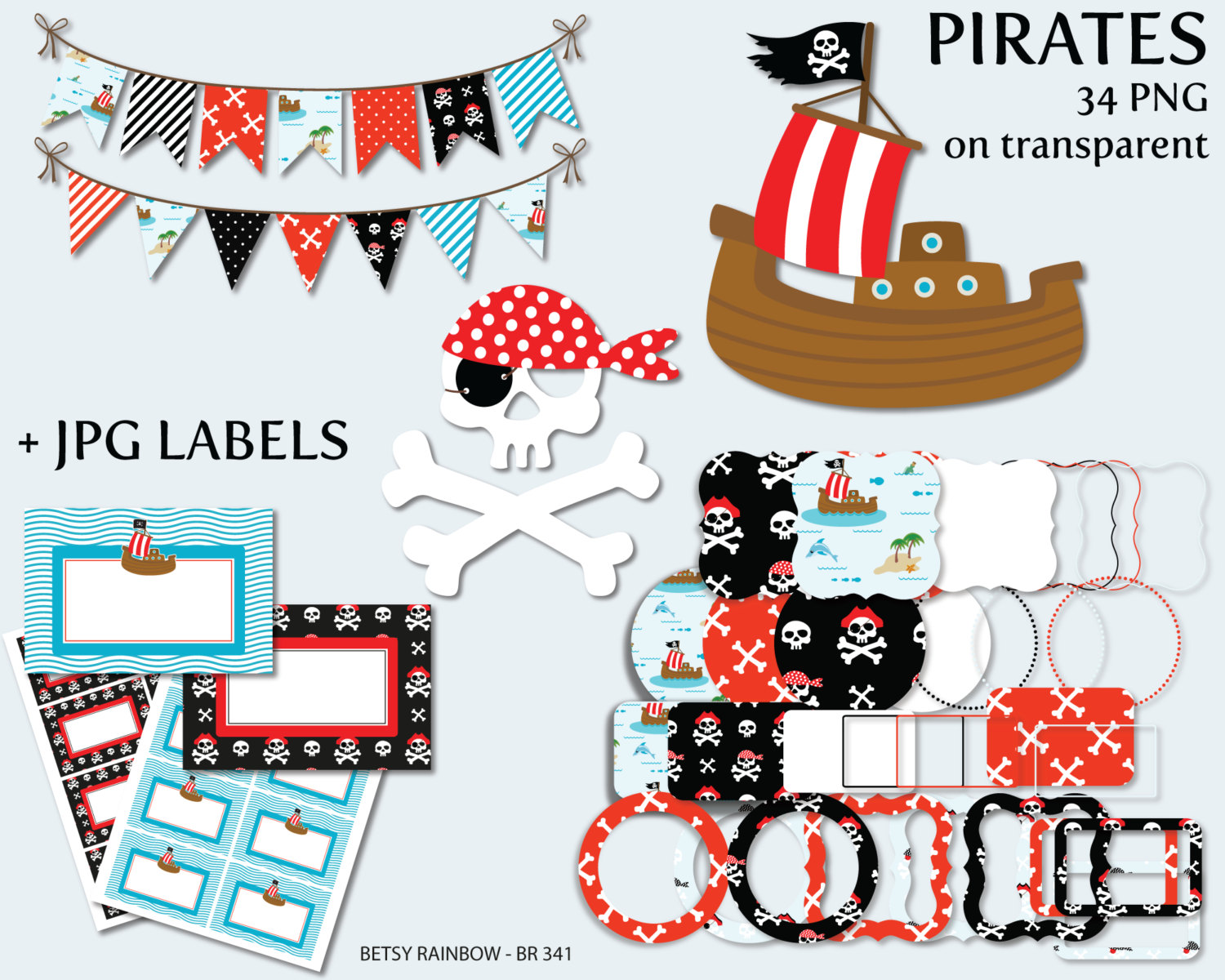 Free frame cliparts download. Pirate clipart banner