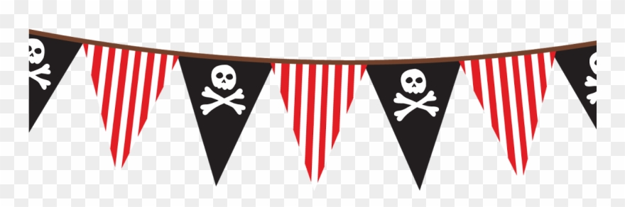 Pirate clipart banner. Png pennant clip art