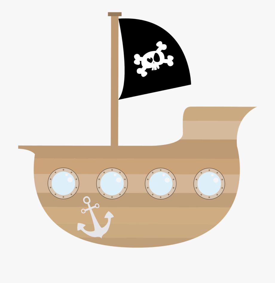 Pirates clipart simple. Pirate ship cute clip