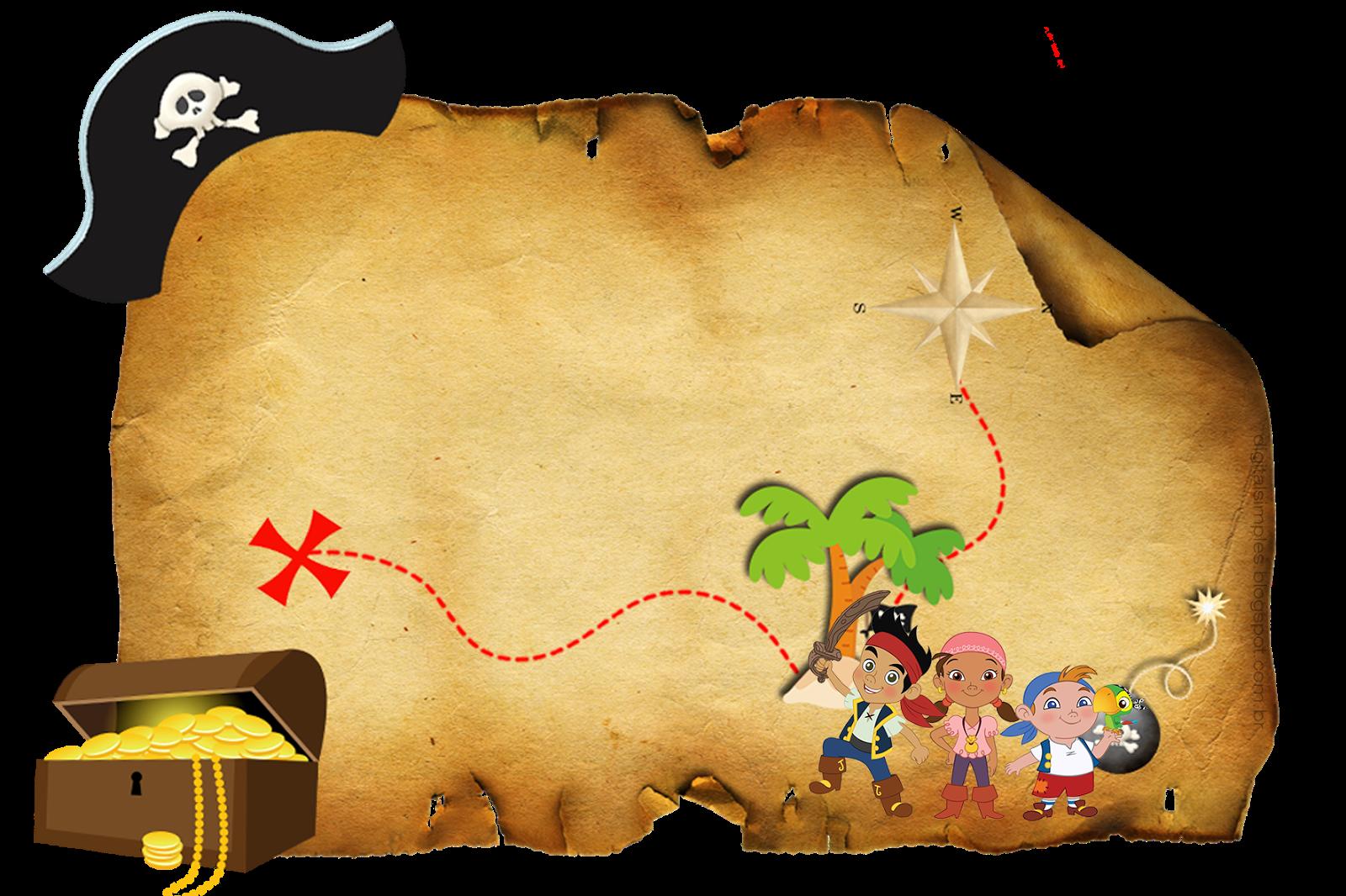 Pirate clipart football. Convite mapa do tesouro