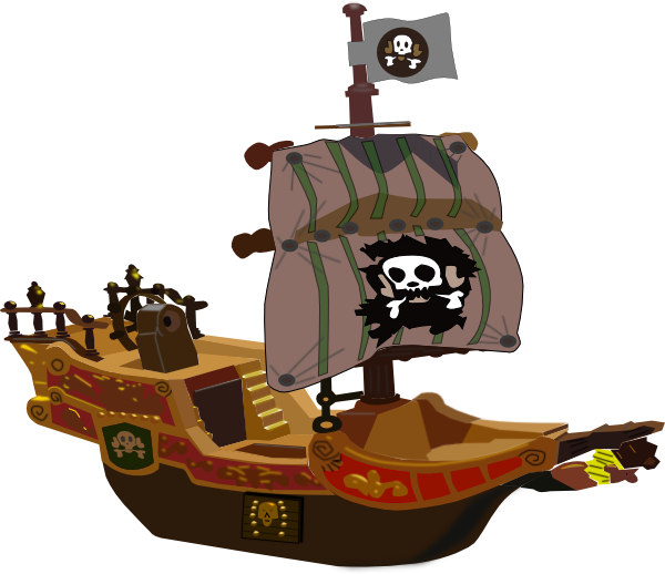 Ship clip art at. Pirate clipart ghost