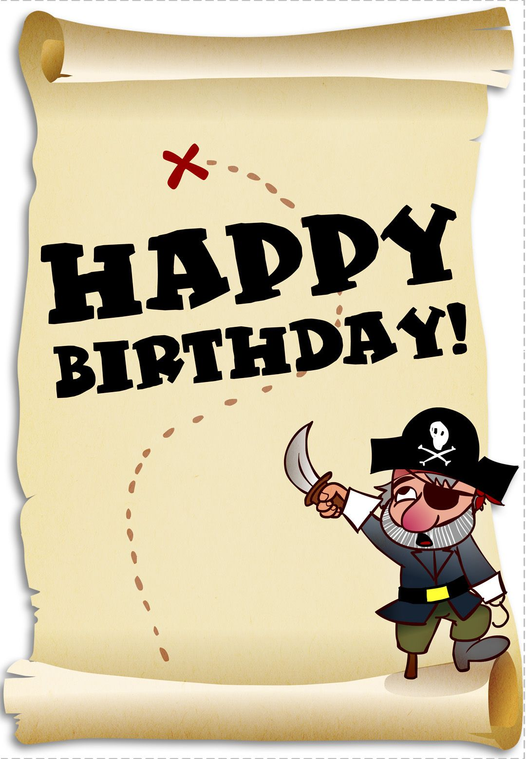 Pirate clipart happy birthday. Free printable card birthdayparty