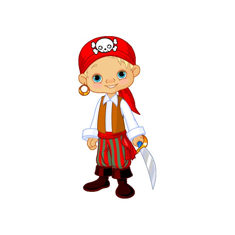 pirate clipart little boy