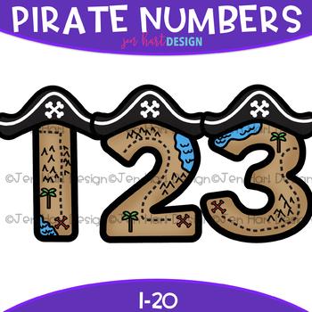 Pirates clipart math. Numbers clip art pirate