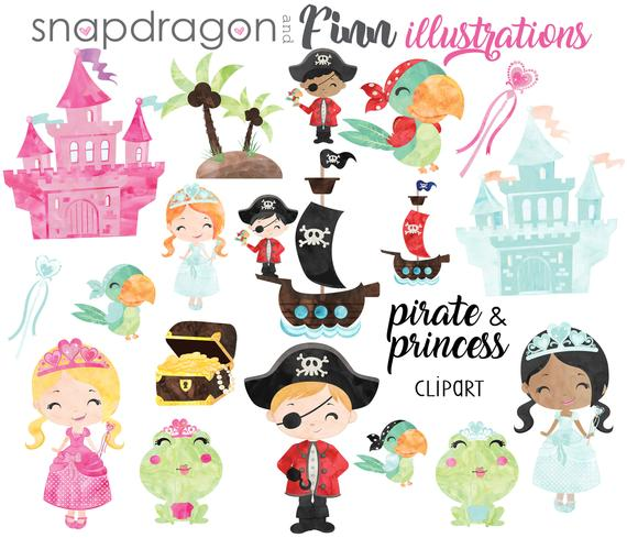 Buy get and clip. Pirate clipart princess