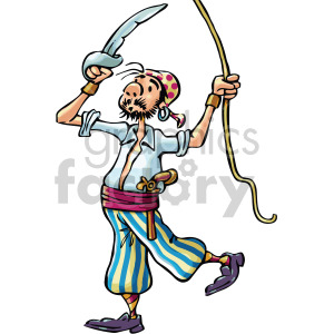 Climbing royalty free gif. Pirate clipart rope