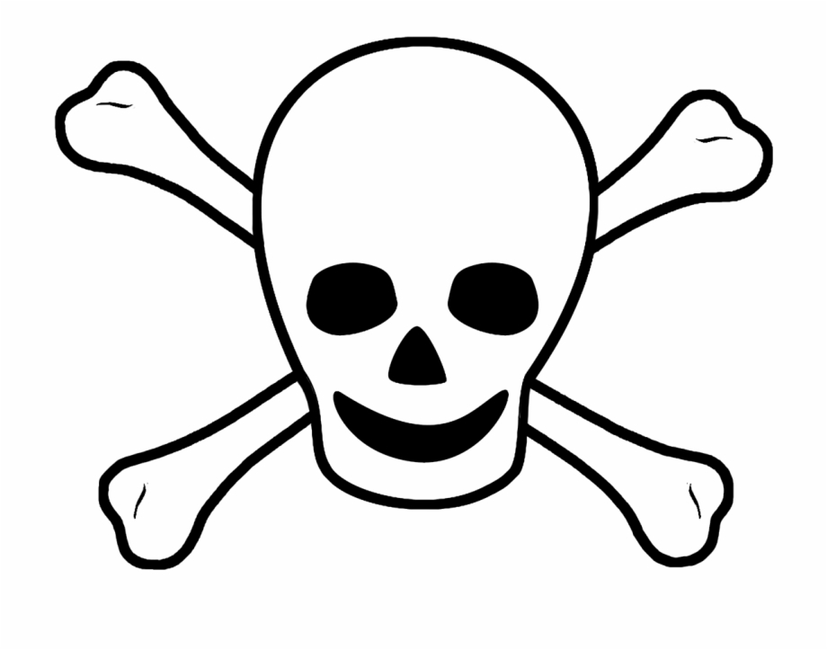 Scull bones clip art. Pirate clipart sign
