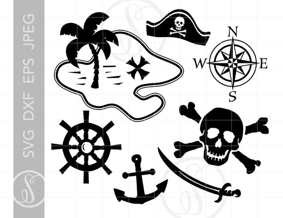Pirate clipart silhouette. Pirates svg cut files