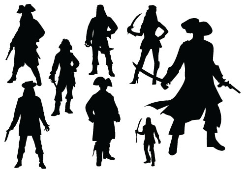 Pirate clipart silhouette. Free cliparts download clip