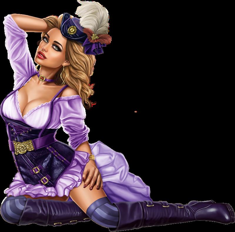 Steampunk clipart steampunk girl. Tubes d artist alehandra
