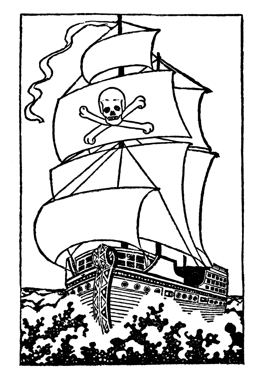 Pirates clipart black and white. Clip art pirate ship