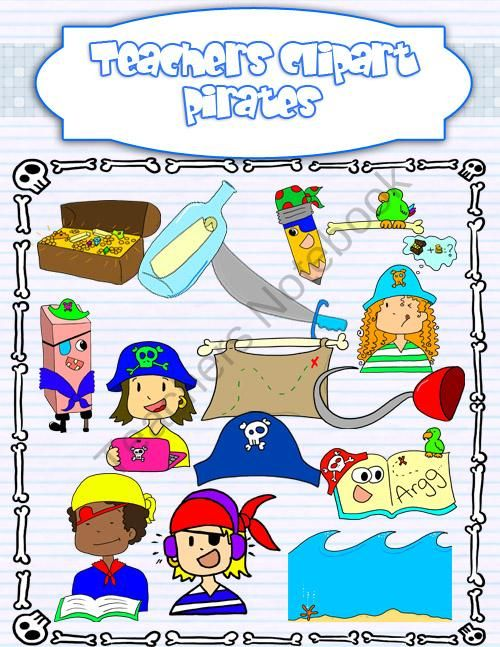 Theme product from teacher. Pirates clipart classroom