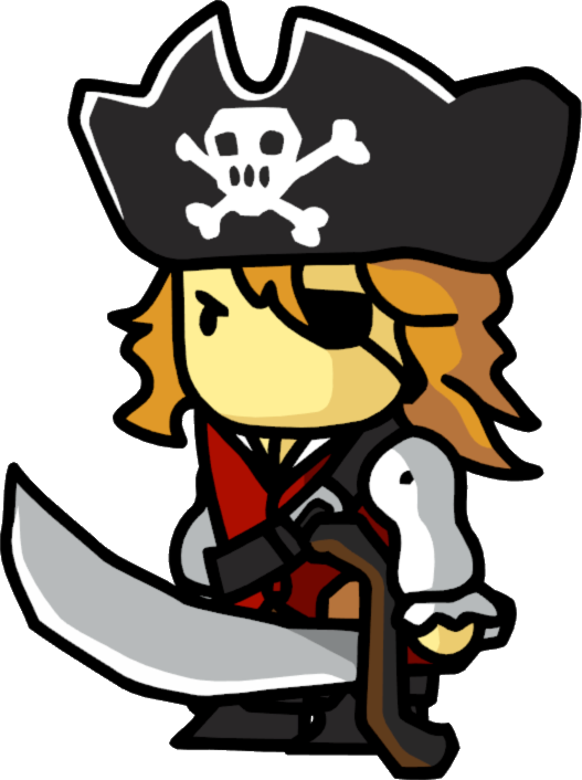 Image png scribblenauts wiki. Pirates clipart female pirate
