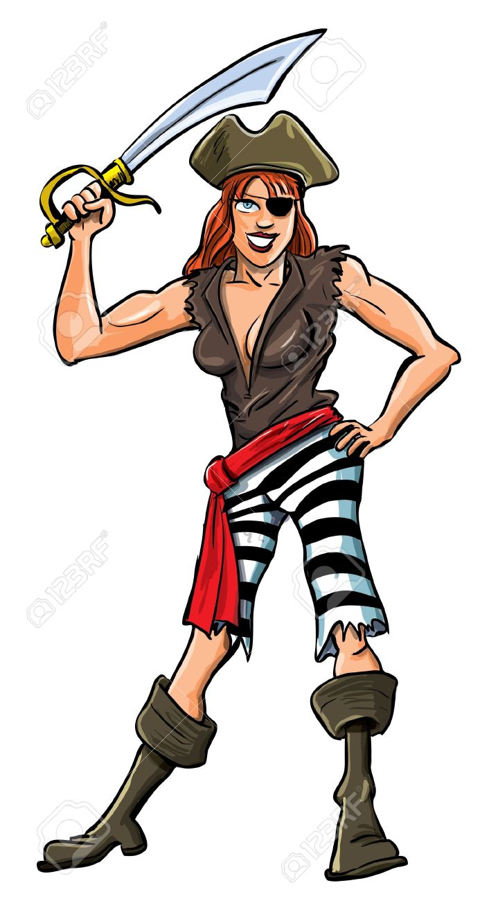 Cartoon pictures free download. Pirates clipart female pirate