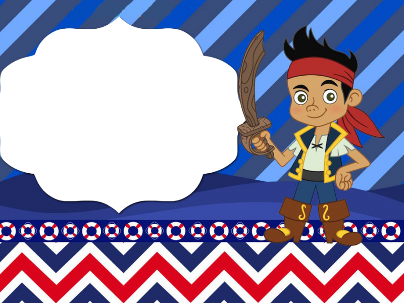 Marco foto jake piratas. Pirates clipart invitation