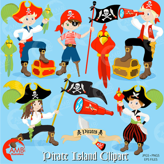 Pirate boy buccaneer treasure. Pirates clipart invitation