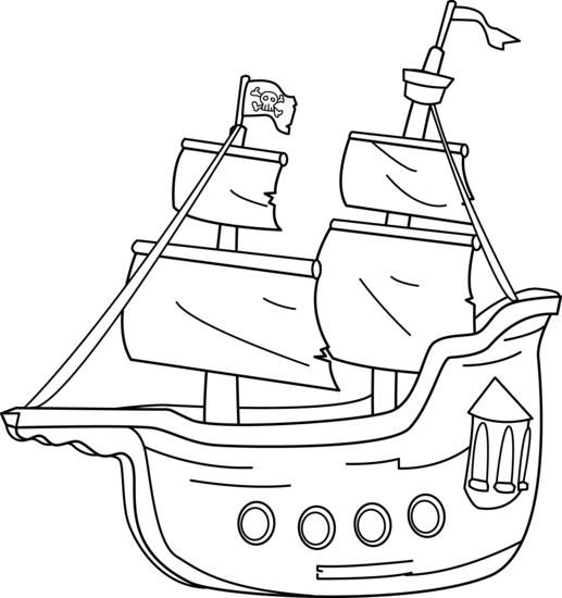 Pirates clipart outline. Pirate ship clip art