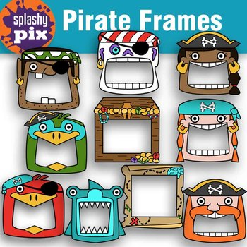 Pirate frames . Pirates clipart picture frame