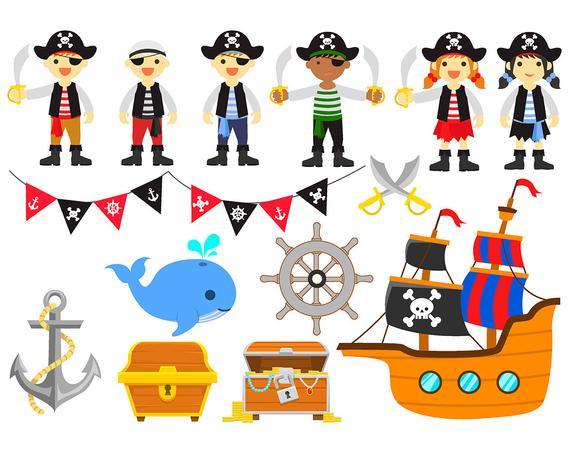 Sale pirate set clip. Pirates clipart printable