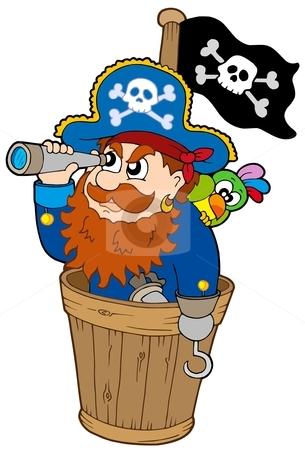 Pirate telescope panda free. Pirates clipart scope