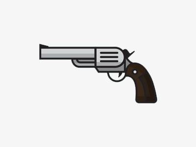 Pistol clipart. Flat cartoon material png