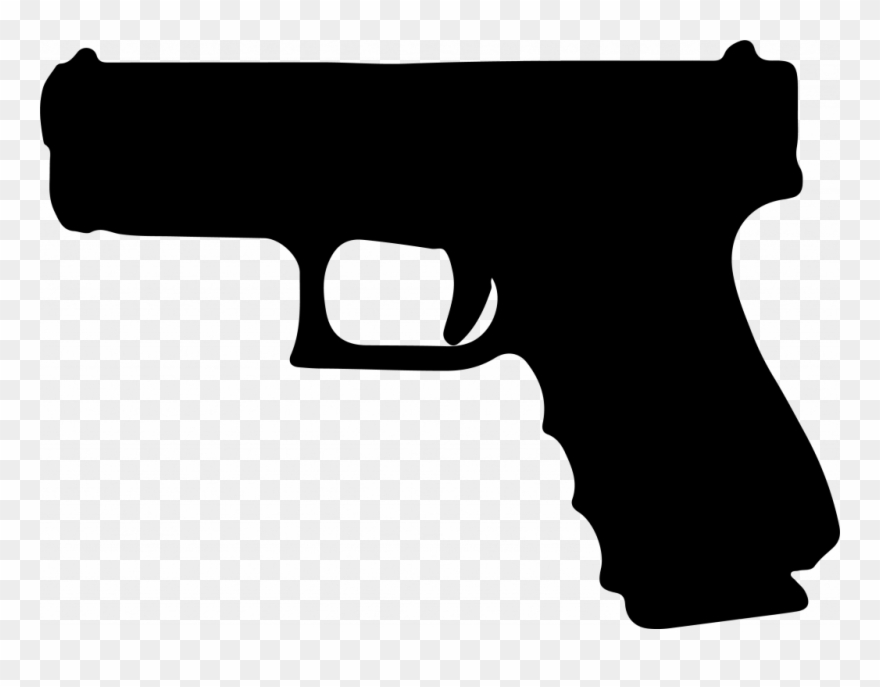 Pistol clipart. Graphic royalty free library