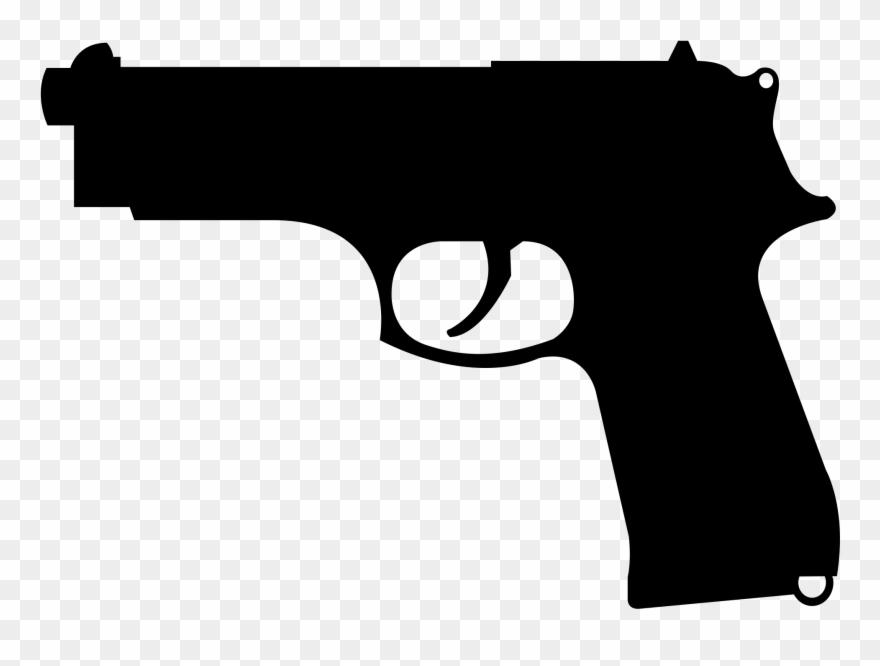 Gun clipart banner. Freeuse pistol wing beretta