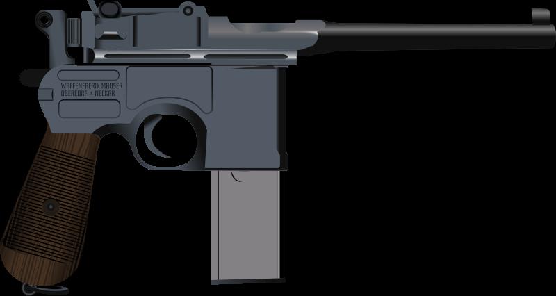 Pistol clipart baril. Image for mauser c