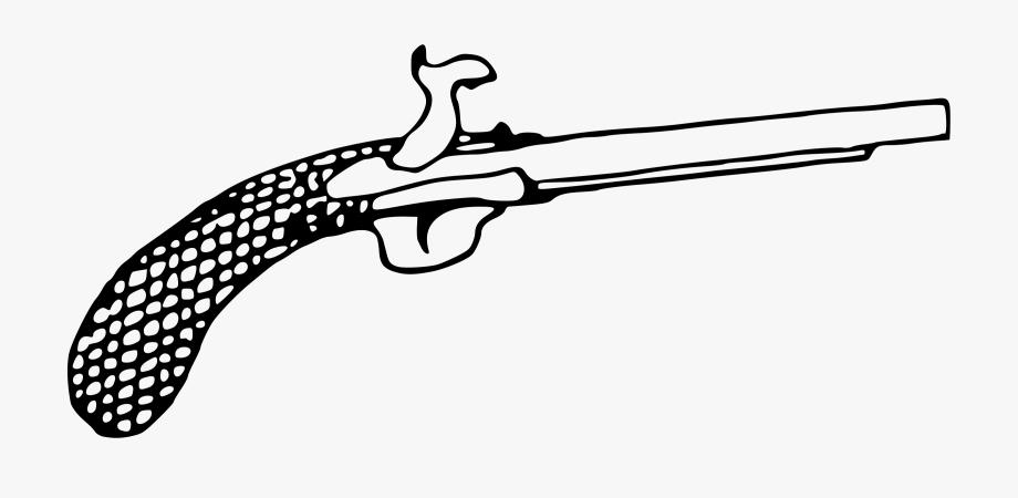 Pistol clipart flintlock. Transparent cartoon free
