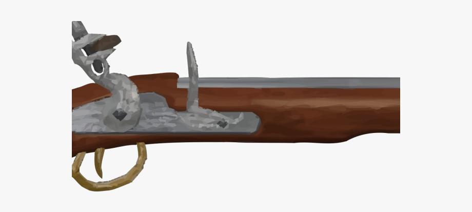 Flint lock shotgun clip. Pistol clipart flintlock
