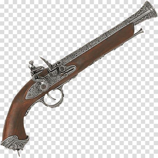 Firearm musket gun barrel. Pistol clipart flintlock