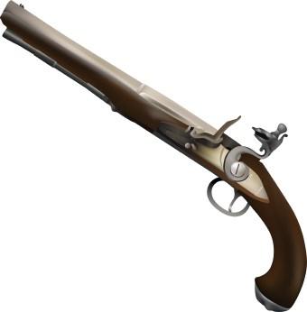 Pistol clipart flintlock. Clip art panda free