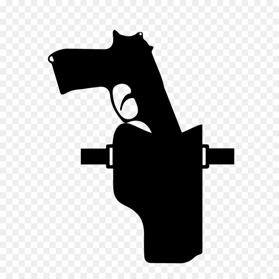 Cartoon black font transparent. Pistol clipart gun holster