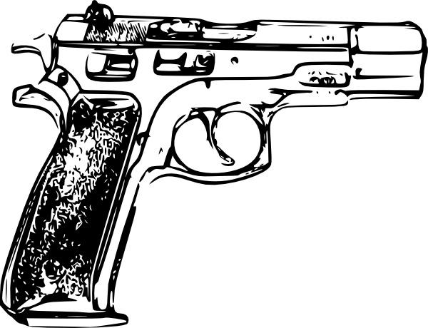 Pistol clipart police gun. Clip art free vector