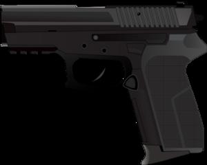 Black clip art at. Pistol clipart police gun