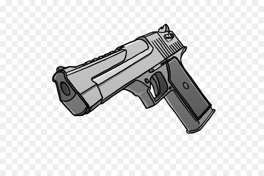 Pistol clipart real gun. Cartoon drawing product transparent
