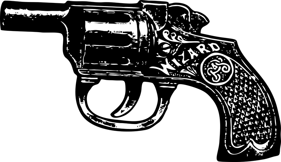 Cartoon pictures of guns. Pistol clipart western