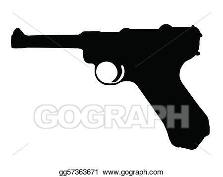 Pistol clipart ww2 gun. Vector illustration ww stock