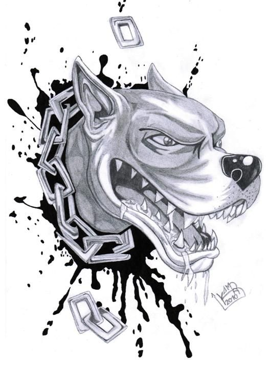 Tattoo sample dennis in. Pitbull clipart angry