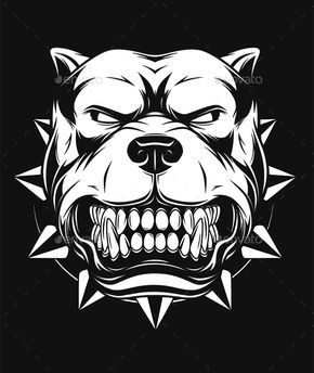Pitbull clipart angry. Pin on cutting files