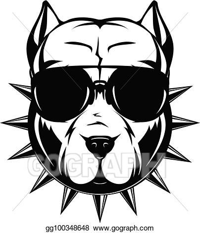 Pitbull clipart vector. Illustration gg