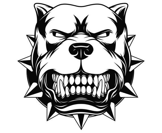 Pit bull terrier dog. Pitbull clipart vector
